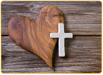 Cross and Heart Conceptual Image